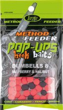 Pop-Ups Hook Baits Dumbells 8 Raspberry & Halibut