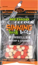 Sinking Hook Baits Dumbells 8 Shrimp & Coconut